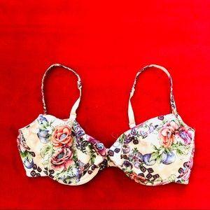 Victorias Secret Blush Floral Kawaii Bra